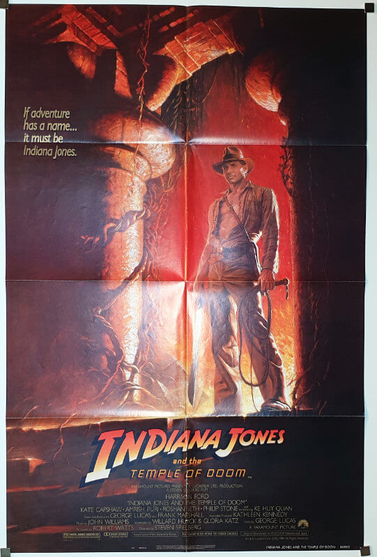 Indiana Jones and the Temple of Doom / One Sheet / USA