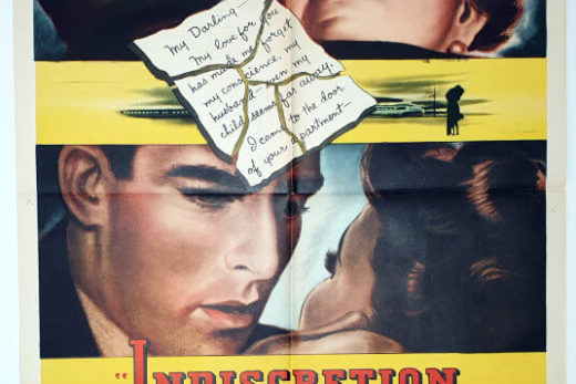 Indiscretion of an American Wife / One Sheet / USA