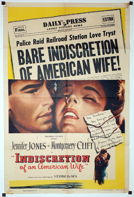 Indiscretion of an American Wife / One Sheet B / USA
