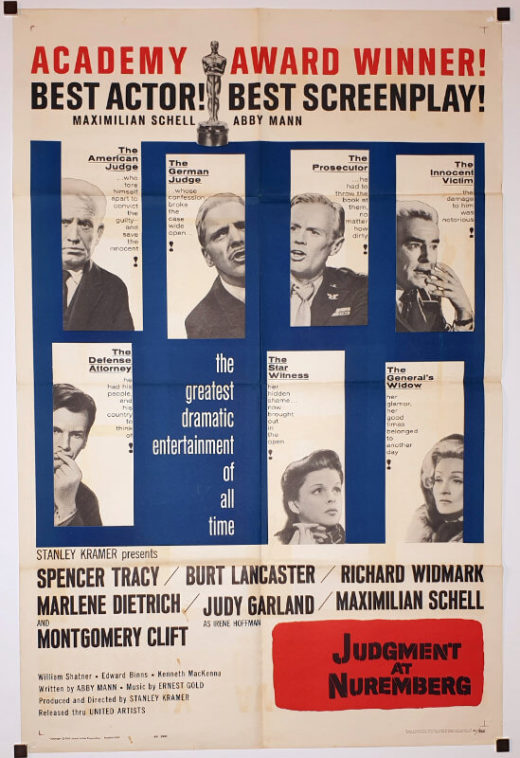 Judgment at Nuremberg / One Sheet / USA