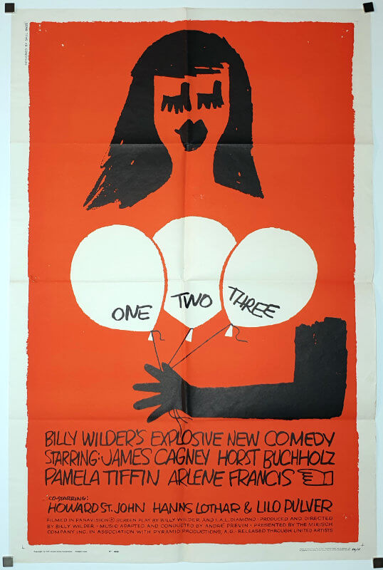 One, Two, Three / One Sheet / USA