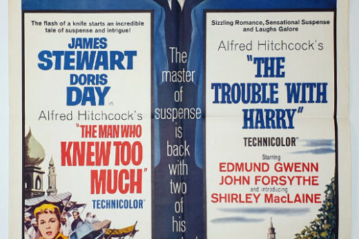 Trouble With Harry TMWKTM 1-sheet USA R-63